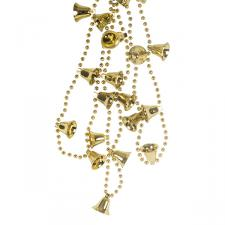 Decorative Gold Bell Garland - 2.7m