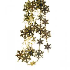 Decorative Gold Snowflake Garland - 2.7m