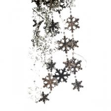 Decorative Silver Snowflake Garland - 2.7m