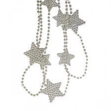 Decorative Silver Star Garland - 2.7m
