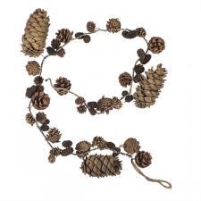 Natural Brown Pinecone Garland -130cm