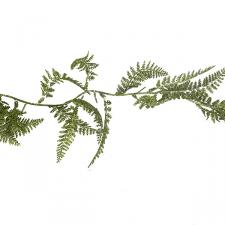 Decorative Green Glitter Finish Fern Leaf Garland - 1.8m
