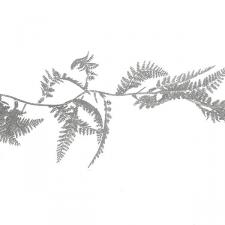Decorative Silver Glitter Finish Fern Leaf Garland - 1.8m