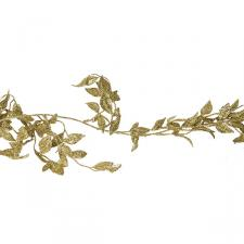 Gold Glitter Honeysuckle Garland - 1.8m