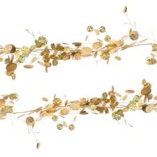 Gold Sequin Disc Garland - 1.8m