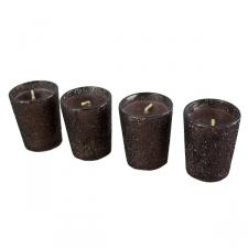 Cocoa Glitter wax candles  - 4 Pack