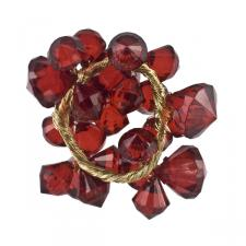 Gisela Graham Red Crystal Candle Ring - 3cm