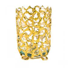 Gold Tea Light Holder - 8cm x 12cm