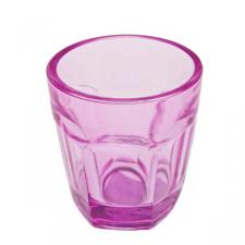 Pink Glass Tealight Candle Holder - 65mm