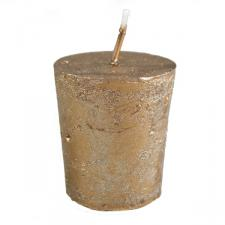 Almond Brown Metallic Votive Candle