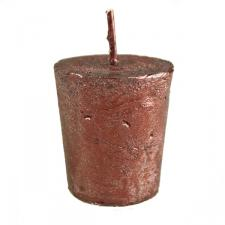 Dark Red Metallic Votive Candle