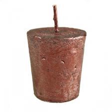 Dark Red Metallic Votive Candle