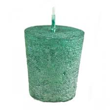 Emerald Green Metallic Votive Candle
