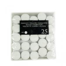 Bag Of 25 White Tealight Candles