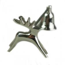 Silver Coloured Metal Reindeer Snuffer