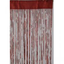 Burgundy Red Fabric Deco Curtain - 90cm x 200cm