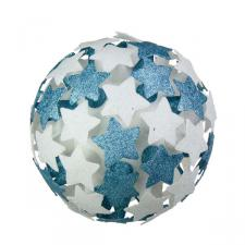 White/Light Blue 3D Star Bauble - 250mm
