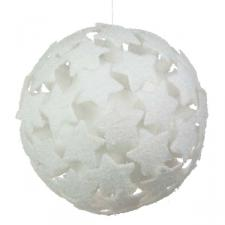 White 3D Star Bauble - 250mm