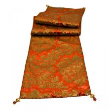 Peggy Wilkins Adonia Red & Gold Table Runner - 33cm X 183cm (13