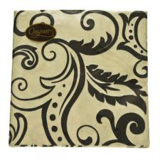 Paper Lunch Napkins in Black Filigree Design