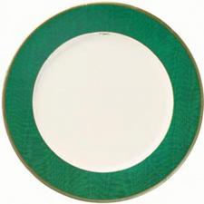 Moire Green Paper Dinner Plates