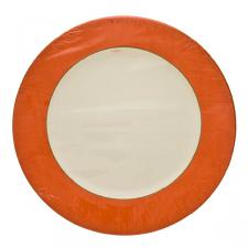 Pack of 8 Disposable Moire Orange Plates - 26.7cm