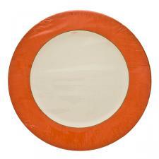 Pack of 8 Disposable Moire Orange Plates - 26.7cm
