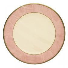 Pack of 8 Disposable Moire Pink Plates - 20.3cm