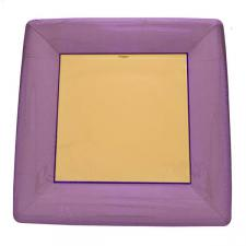 Aubergine Disposable Square Dinner Plates - Pack of 8