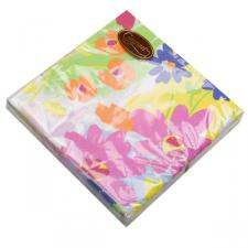 Floral Splash Design Triple Ply Paper Napkins