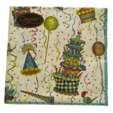 ''Let's Celebrate'' Birthday Celebration Design Napkins