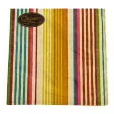 Beach Stripe Geometric Shapes Design Napkins