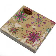 Christmas Lunch Napkins - Gold Jewel Snowflake