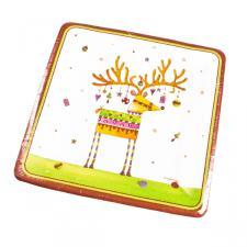 Christmas Design Paper Dessert Plates - Sparkles (Square)