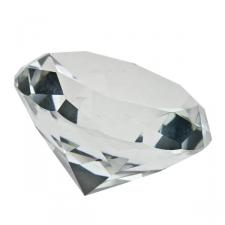Clear Diamond Crystal Table Decoration - 7cm