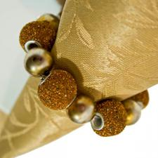 Peggy Wilkins Gold Ritzy Napkin Ring