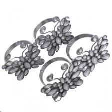Silver Jewelled Butterfly Napkin Rings - Pack Of Four