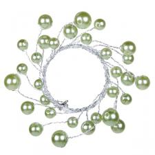 Green Pearlised Bead Napkin Ring - 4.5cm