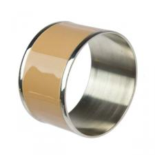 Brass & Caramel Enamel Napkin Ring