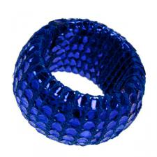 Blue Textile & Sequin Napkin Ring