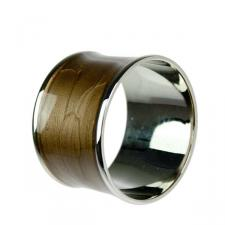Brass & Enamel Brown Napkin Ring