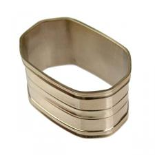 Polished Brass Oblong Shaped Napkin Ring