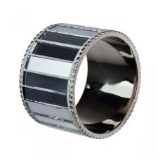 Silver Mirrored Napkin Ring
