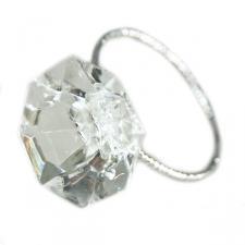 Faux Diamond Napkin Rings - 4 Pack