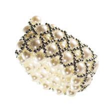 Pearl & Silver Bead Napkin Ring - 3.5cm