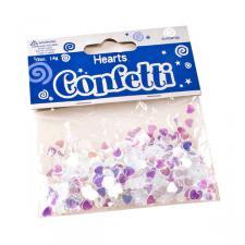 Iridescent Confetti Hearts