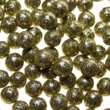 Glittered Ball Table Scatter - Gold 0.7cm