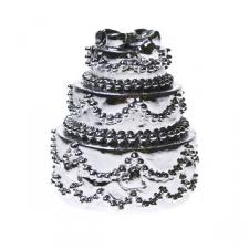 Pewter Wedding Cake Placecard Holder