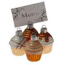 Assorted Glass Cupcake Placecard Holders - 4 x 55mm