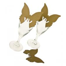 Gold Butterfly Place Cards - 10 Pack